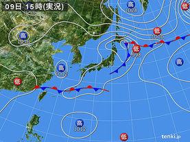 実況天気図(2016年09月09日)