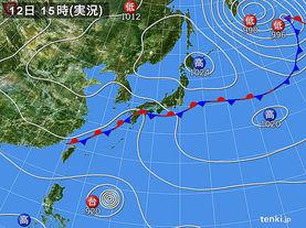 実況天気図(2016年09月12日)