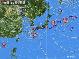 実況天気図(2016年09月19日)