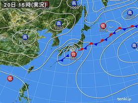 実況天気図(2016年09月20日)