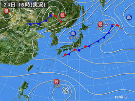 実況天気図(2016年09月24日)