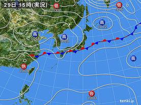 実況天気図(2016年09月29日)