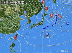 実況天気図(2016年10月06日)