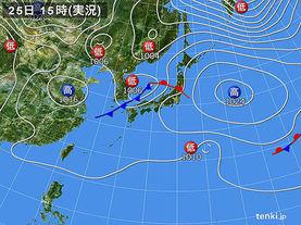 実況天気図(2016年10月25日)