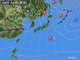 実況天気図(2016年10月26日)