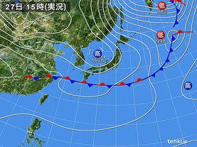 実況天気図(2016年10月27日)
