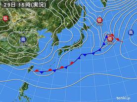 実況天気図(2016年10月29日)