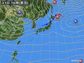実況天気図(2016年10月31日)