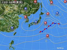 実況天気図(2016年11月12日)