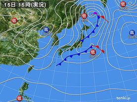 実況天気図(2016年11月15日)