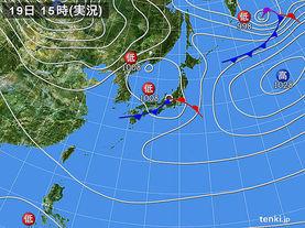 実況天気図(2016年11月19日)