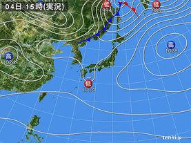 実況天気図(2016年12月04日)