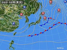 実況天気図(2016年12月06日)