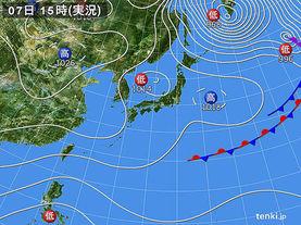 実況天気図(2016年12月07日)