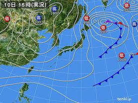 実況天気図(2016年12月10日)