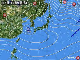 実況天気図(2016年12月17日)
