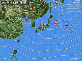 実況天気図(2016年12月20日)