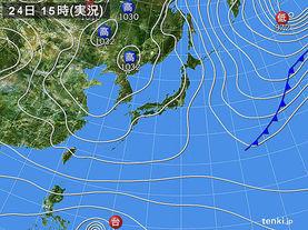 実況天気図(2016年12月24日)