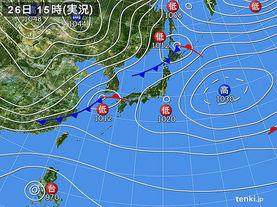 実況天気図(2016年12月26日)