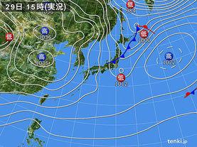 実況天気図(2016年12月29日)