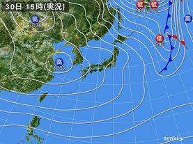 実況天気図(2016年12月30日)