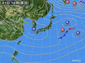実況天気図(2017年01月01日)
