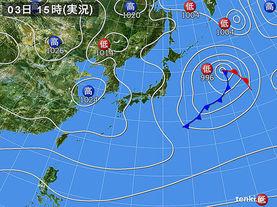 実況天気図(2017年01月03日)