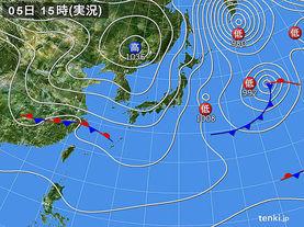 実況天気図(2017年01月05日)