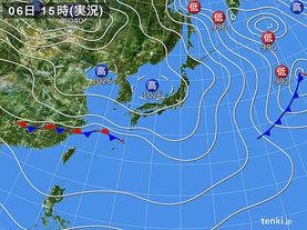 実況天気図(2017年01月06日)
