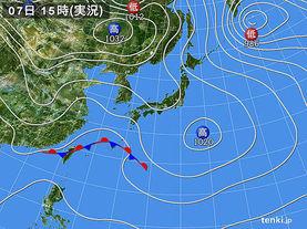 実況天気図(2017年01月07日)