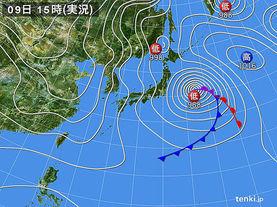 実況天気図(2017年01月09日)