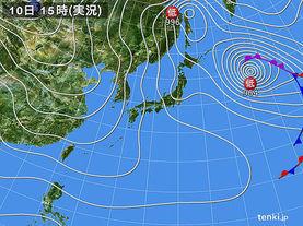実況天気図(2017年01月10日)