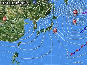 実況天気図(2017年01月15日)