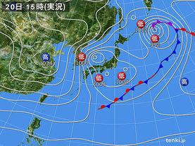 実況天気図(2017年01月20日)