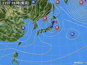 実況天気図(2017年01月22日)