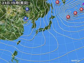 実況天気図(2017年01月24日)
