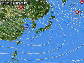 実況天気図(2017年01月25日)