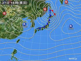 実況天気図(2017年01月27日)