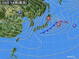 実況天気図(2017年01月30日)