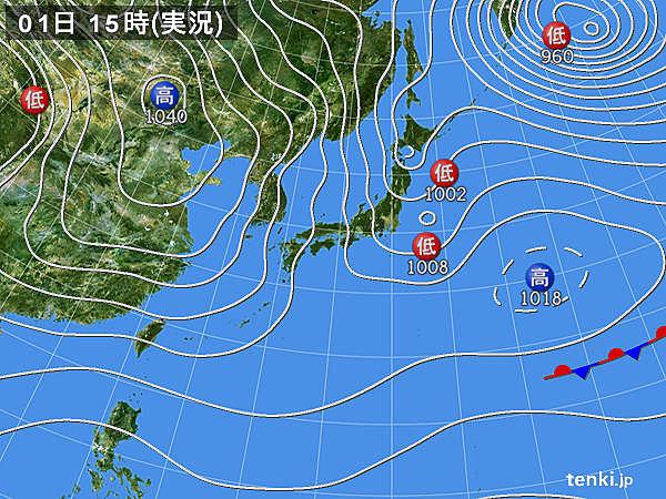 実況天気図(2017年02月01日)