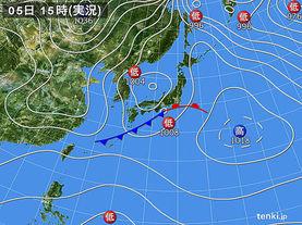 実況天気図(2017年02月05日)