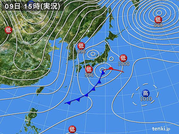 実況天気図(2017年02月09日)