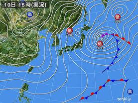 実況天気図(2017年02月10日)