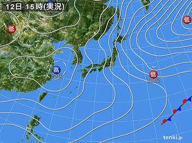 実況天気図(2017年02月12日)