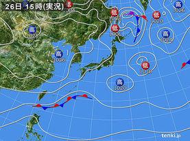 実況天気図(2017年02月26日)