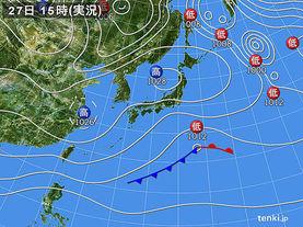 実況天気図(2017年02月27日)