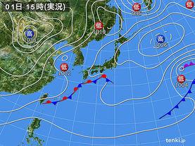 実況天気図(2017年03月01日)