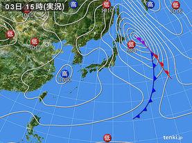 実況天気図(2017年03月03日)