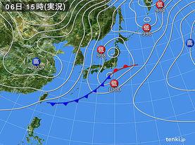 実況天気図(2017年03月06日)
