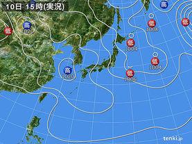 実況天気図(2017年03月10日)